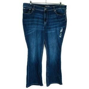Maurices Bootcut Jeans Sz 22W Regular Blue Stretch